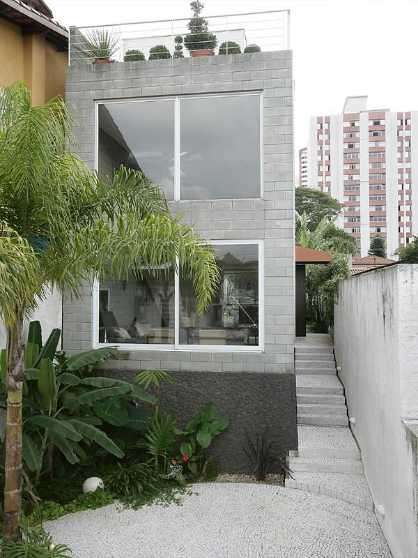 Cement view of the apartment