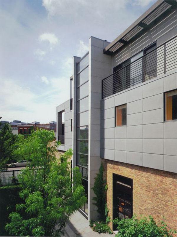 Cheap cement facade