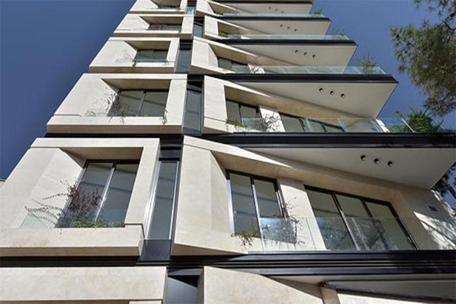 نمای ترکیبی ساختمان یک طبقه