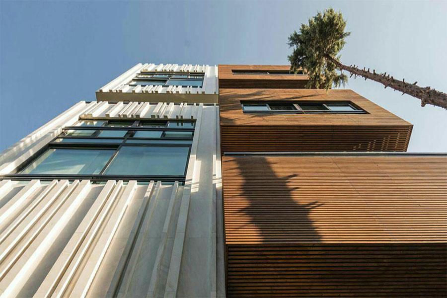 نمای ترکیبی ساختمان