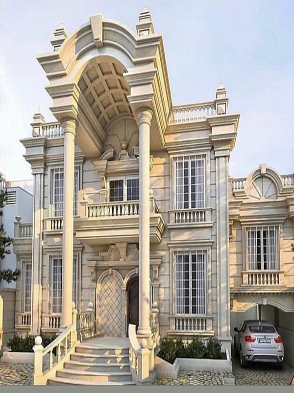 Luxury classic facade design
