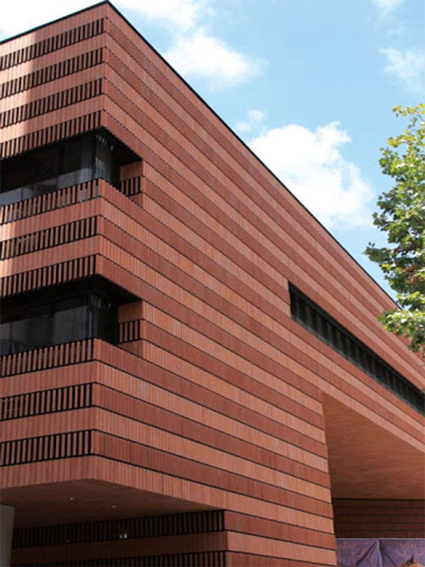 نمای ساختمان با آجر سفال
