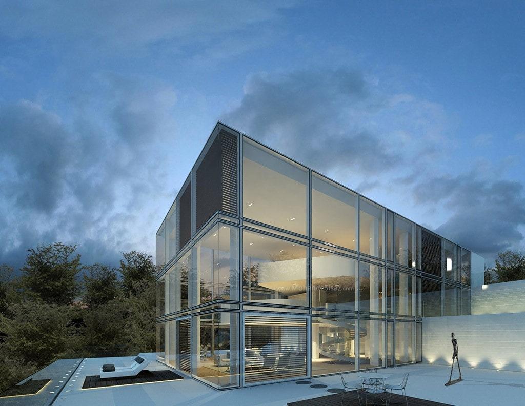 نمای لمبه ساختمان مدرن