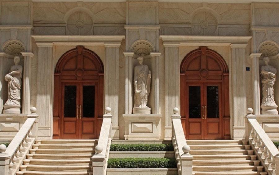 طراحی نمای کلاسیک ساختمان مسکونی