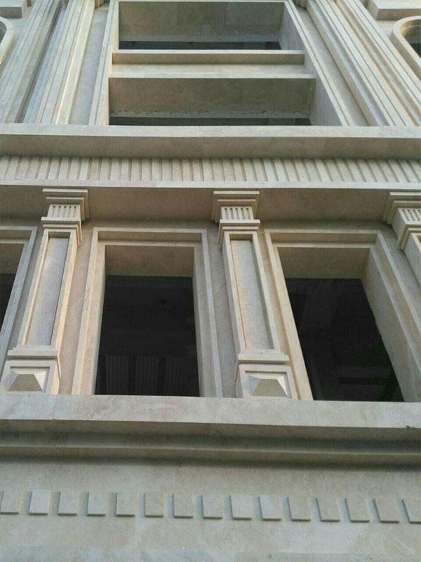 طراحی نمای ساختمان با سنگ و آجر
