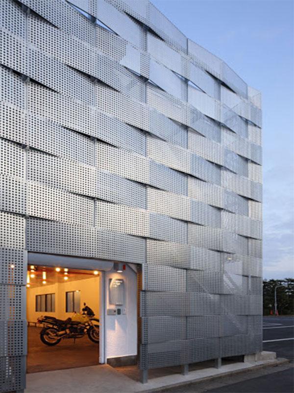 نمای ساختمان استرچ متال