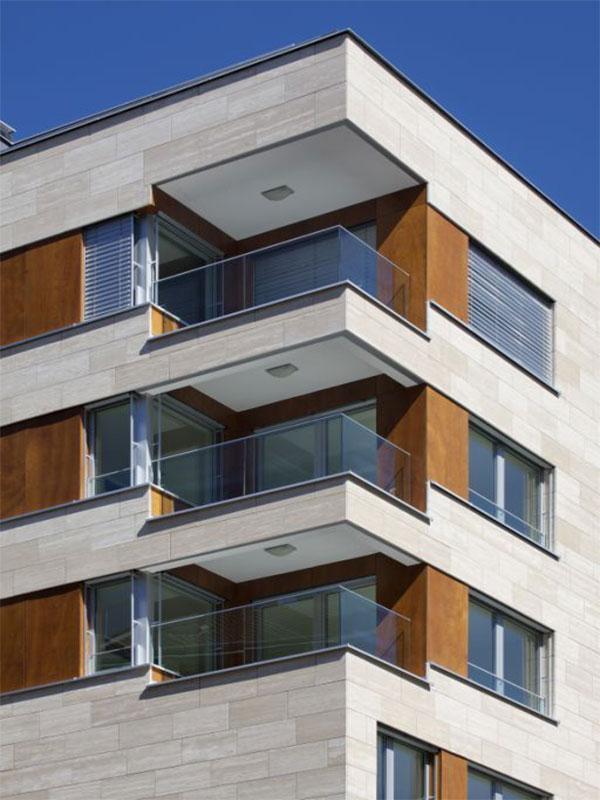 Luxurious stone facade
