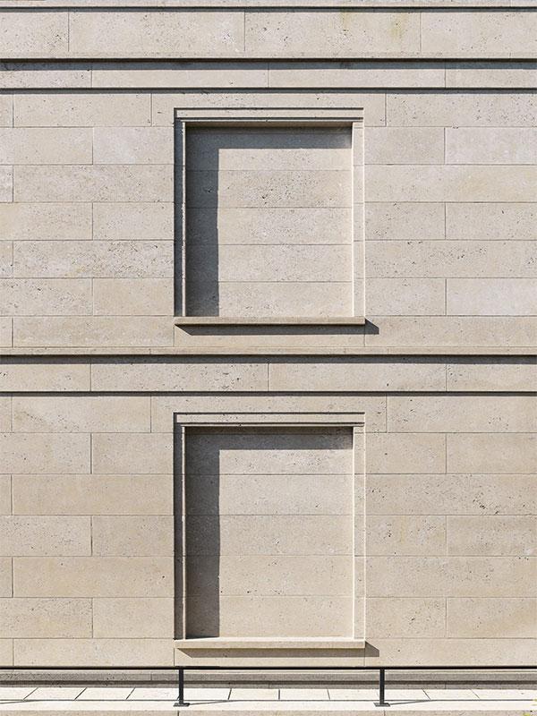 Roman stone facade