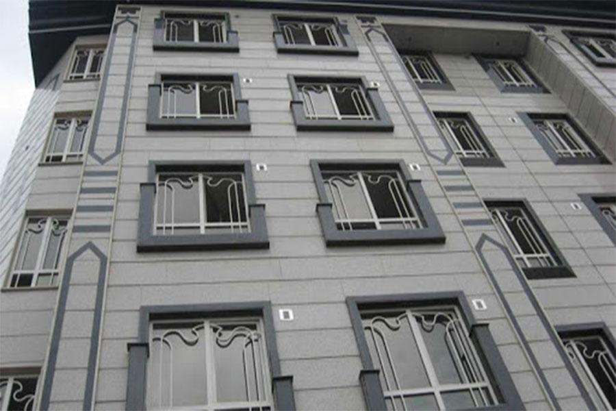نمای سنگ ساختمان یک طبقه