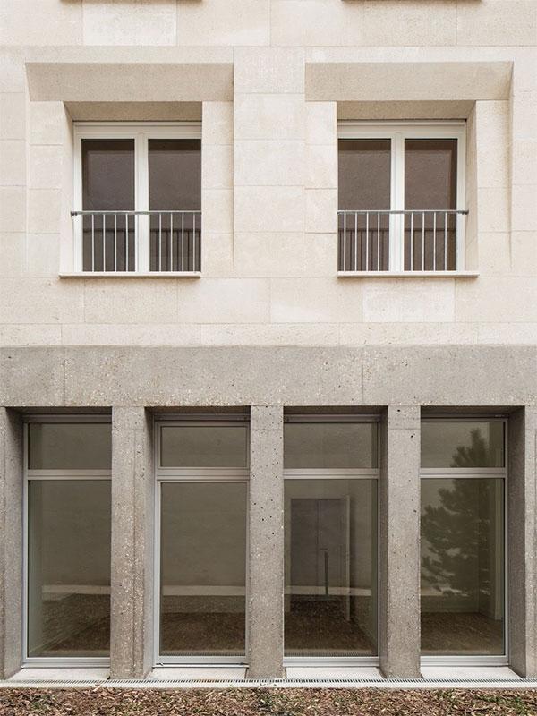 Stylish stone facade