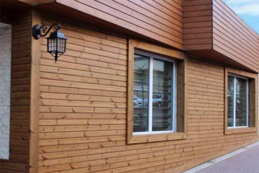 طراحی نمای چوبی ساختمان