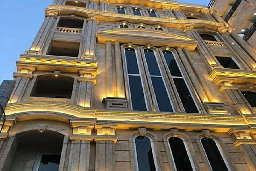 قیمت نورپردازی نمای ساختمان