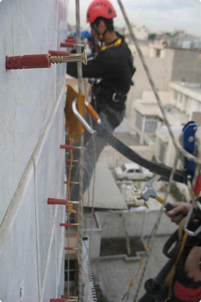 اجرای نمای سنگ ساختمان