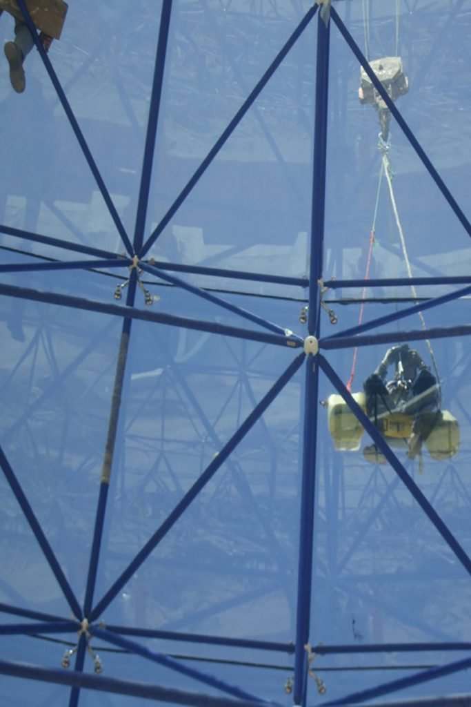 space frame spider glass