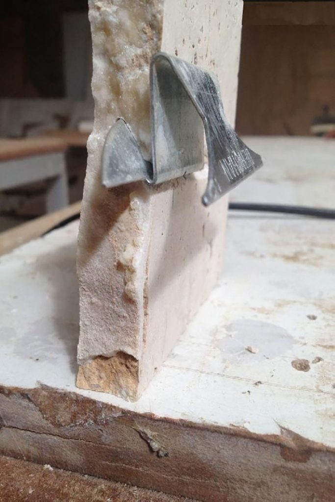 stone scoop section