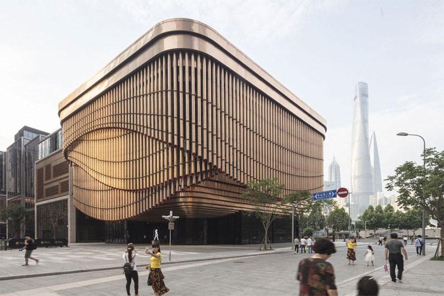 طراحی نمای ساختمان تجاری مسکونی