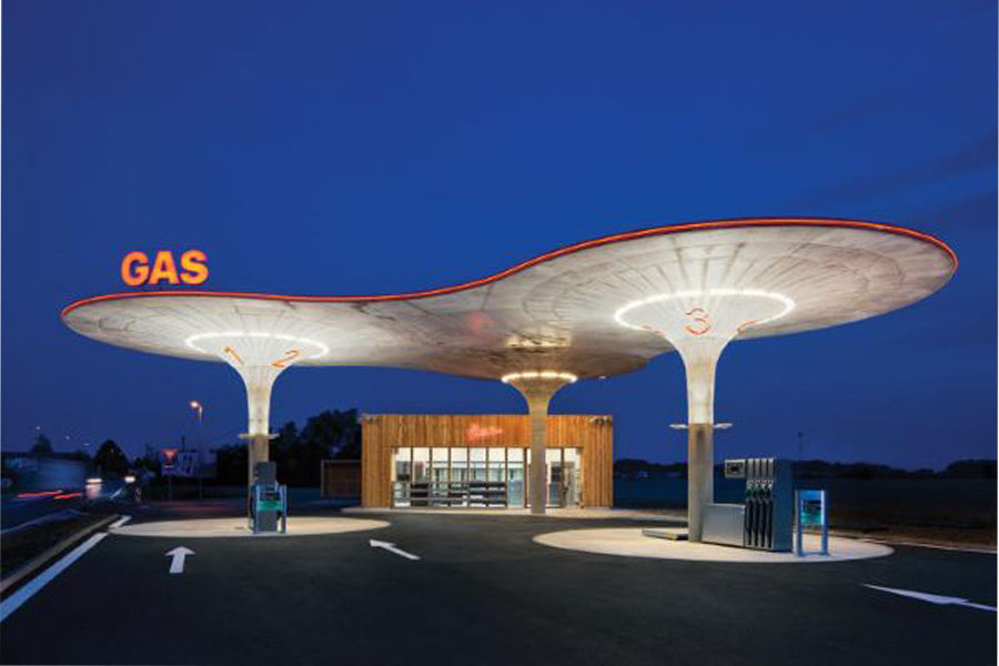 طراحی نما پمپ بنزین