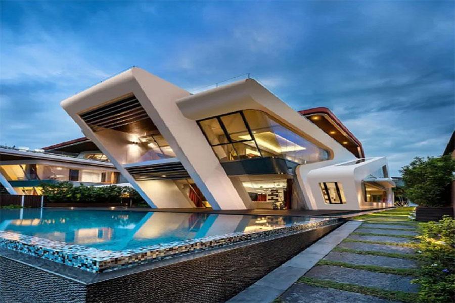 Facade design of Iranian villa