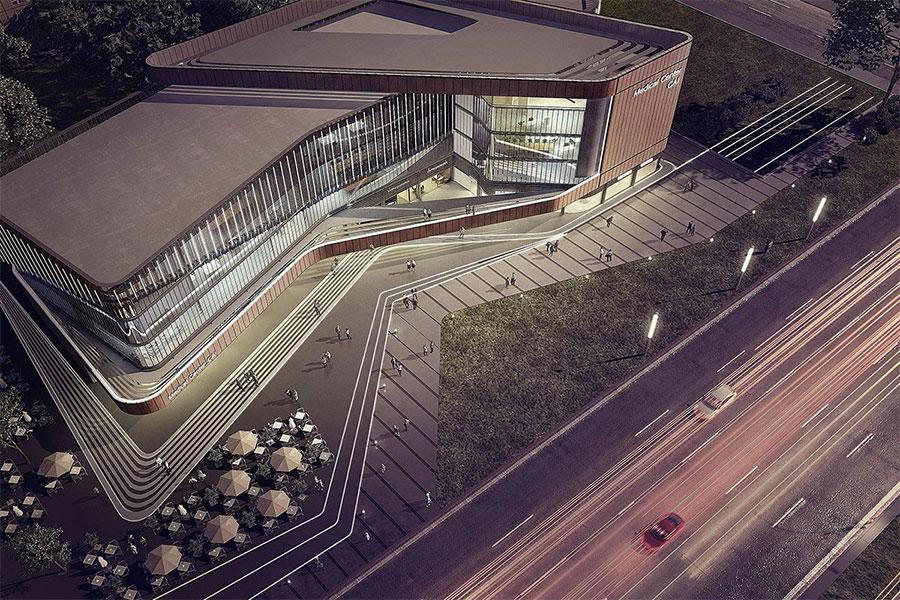 Hospital facade design 1