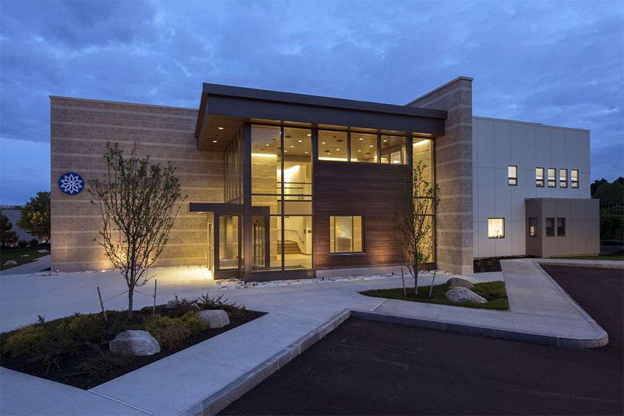 Modern hospital facade design