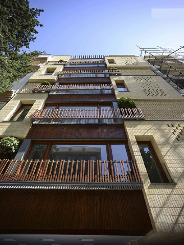 طراحی نمای ساختمان مسکونی مدرن