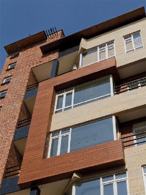 نورپردازی نمای بیرونی ساختمان مسکونی