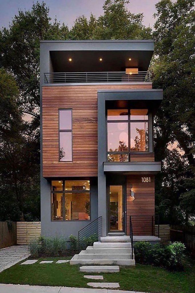 طراحی نمای بیرونی ویلا
