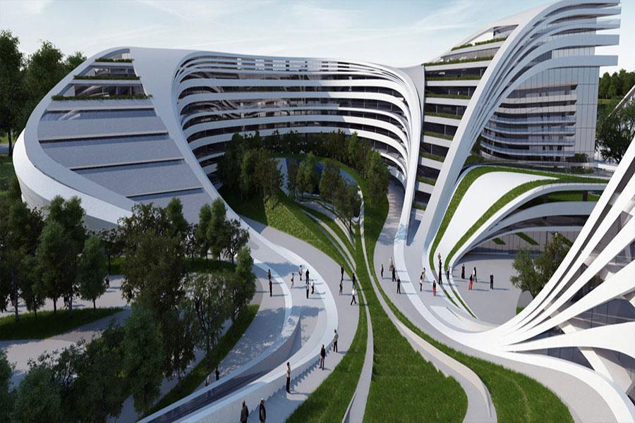 طراحی نما شهرک مسکونی