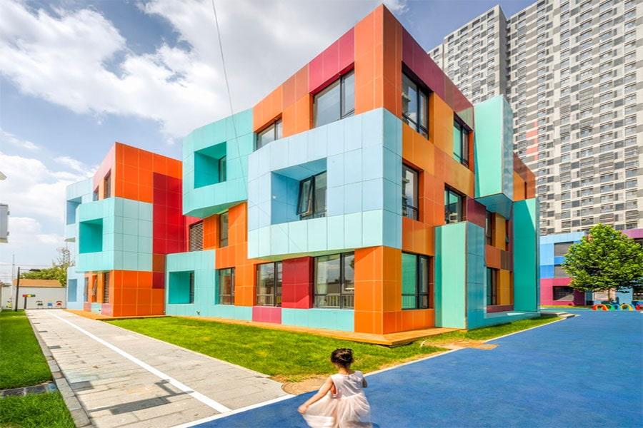 نمای رنگی ساختمان
