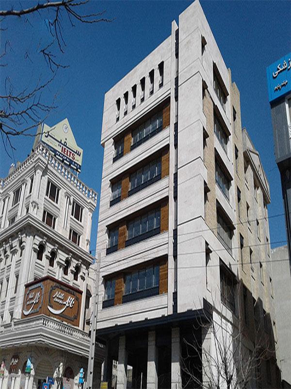 نمای ساختمان اداری مدرن