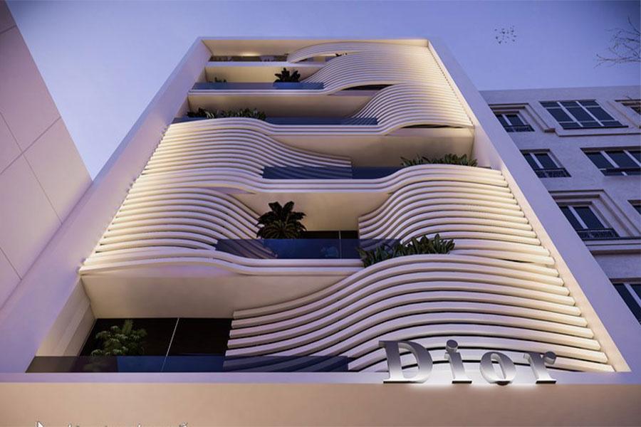 نمای ساختمان اداری یک طبقه