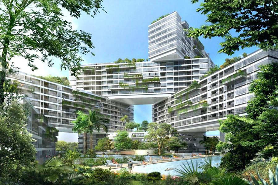 طراحی نمای بیرونی شهرک مسکونی