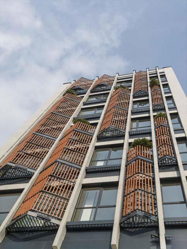 نمای ساختمان اداری دو طبقه