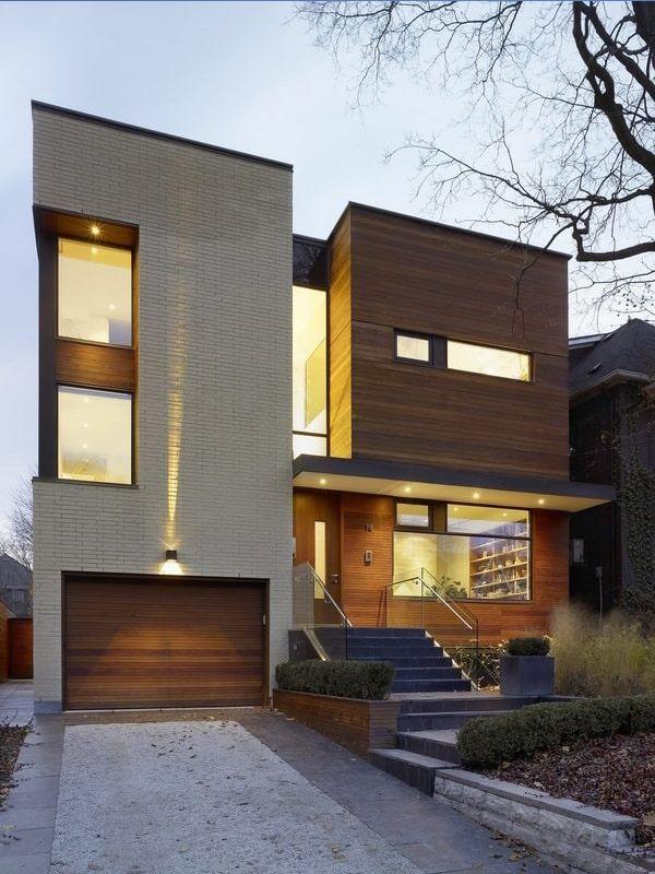 نمای خانه دوبلکس مدرن