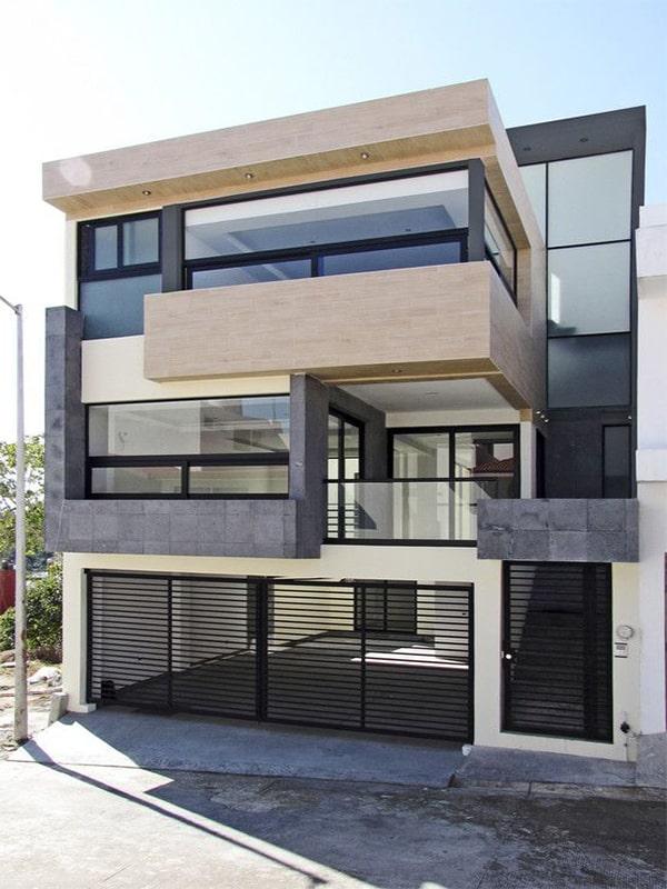 Duplex house facade design 1