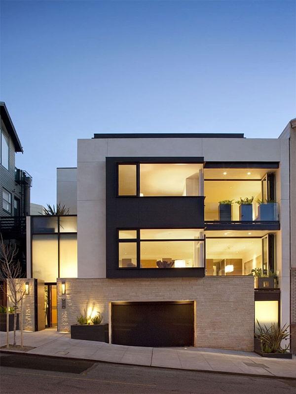 نمای خانه دوبلکس از بیرون