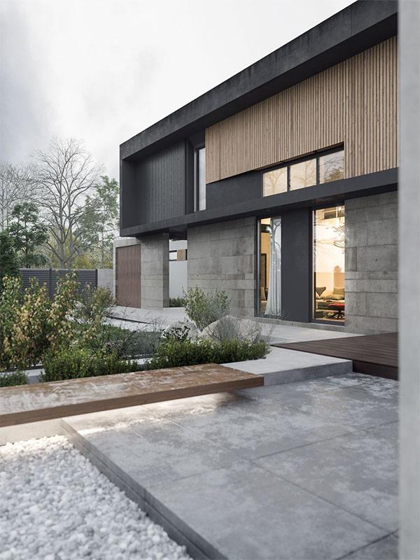 نمای خانه دوبلکس ساده
