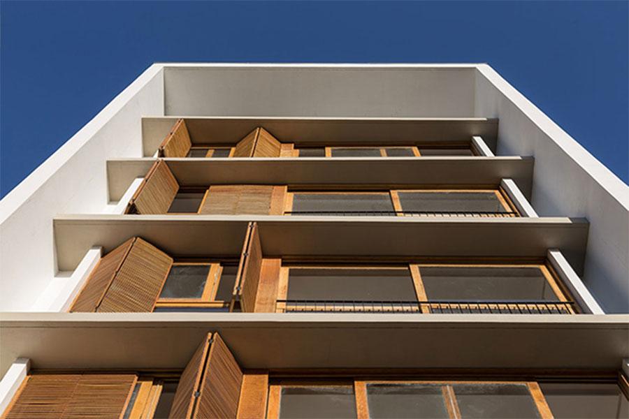 نمای مدرن ساختمان مسکونی