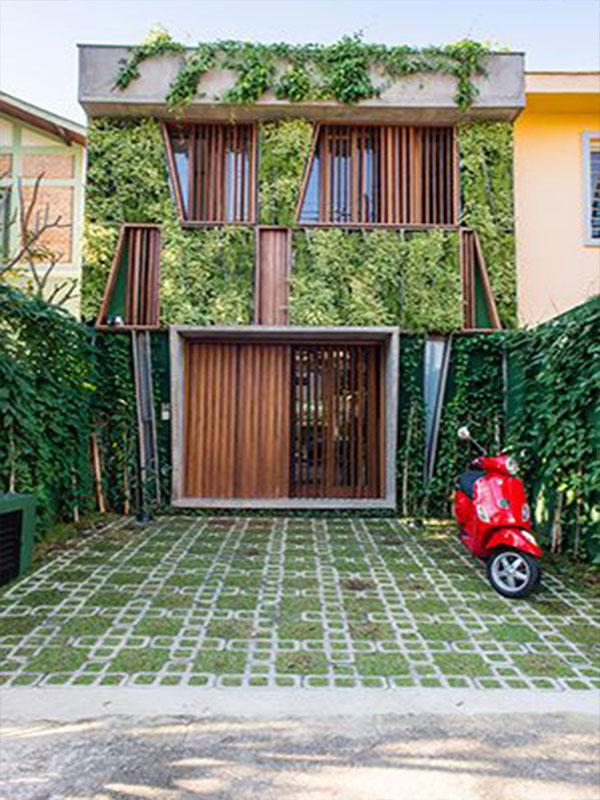 فضای سبز نمای ساختمان