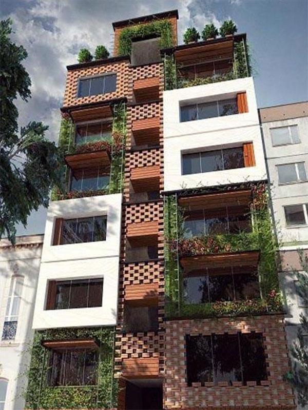 طراحی نمای سبز ساختمان