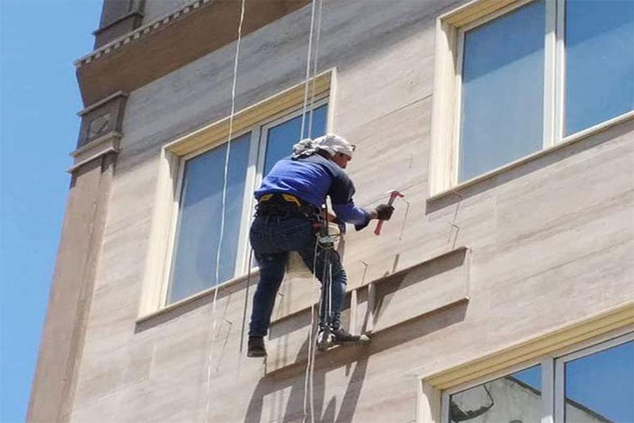 اجرای نمای ساختمان بدون داربست