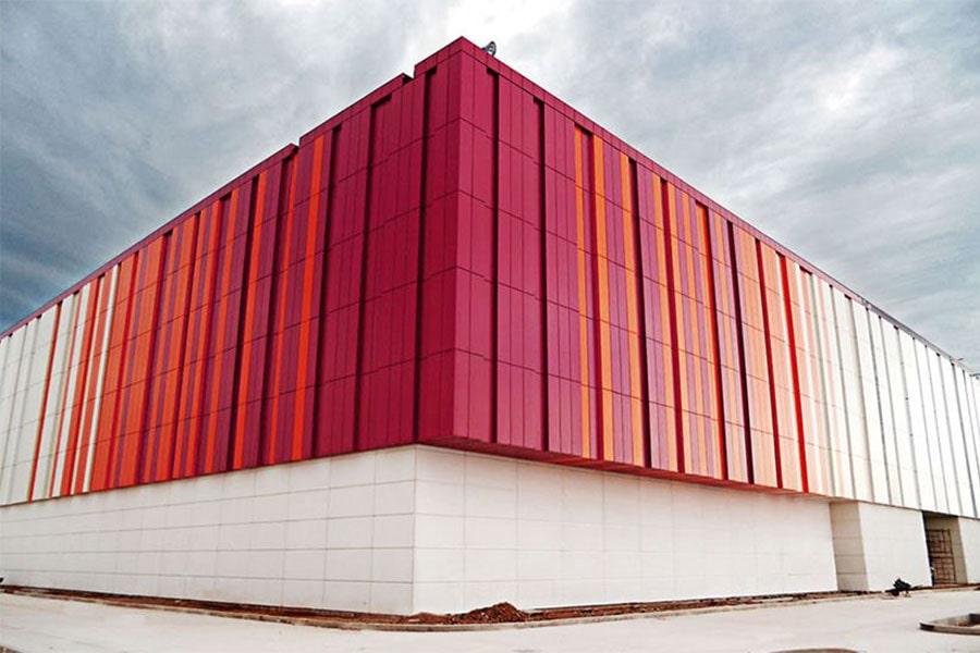 Execution of industrial facade