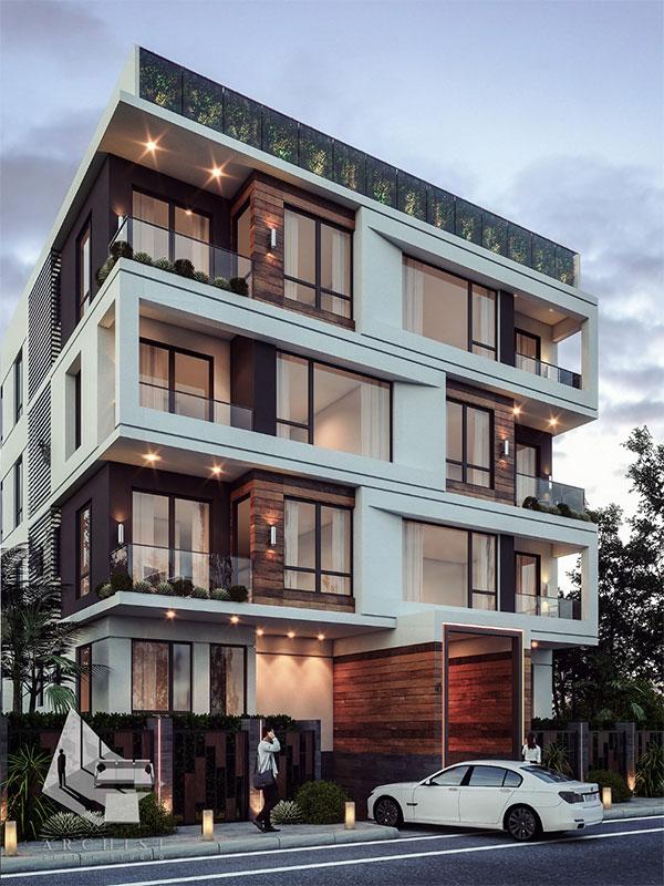 هزینه طراحی نمای ساختمان