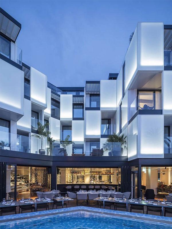 طراحی نمای بیرونی ساختمان یک طبقه