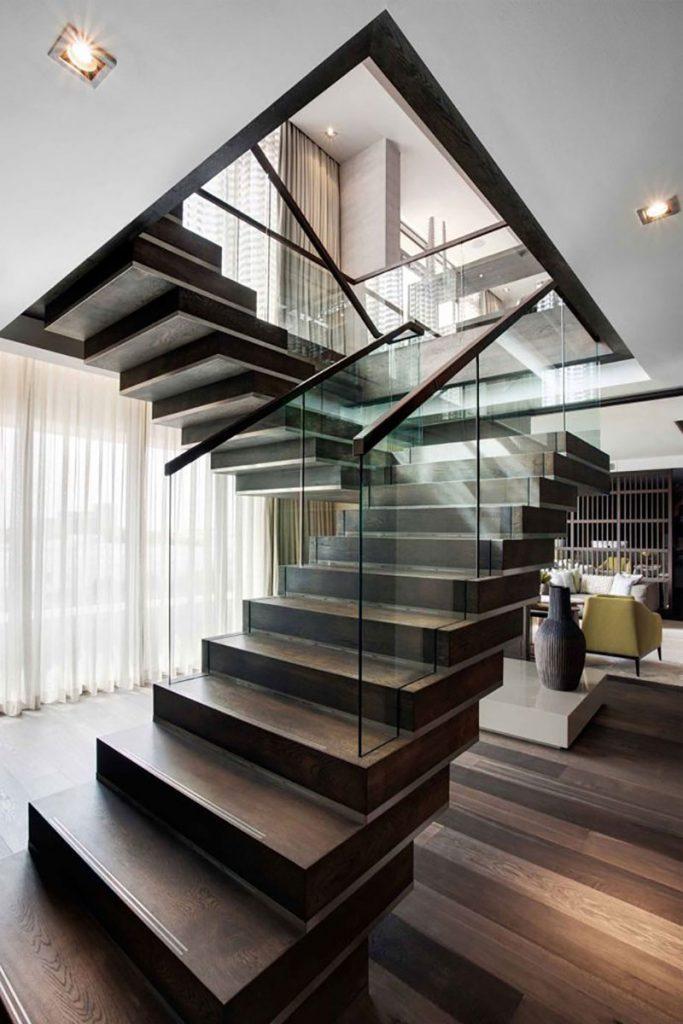 glass handrail design