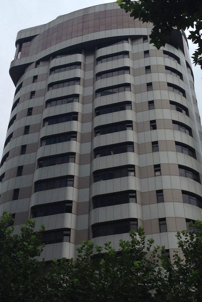 aluminum composite facade