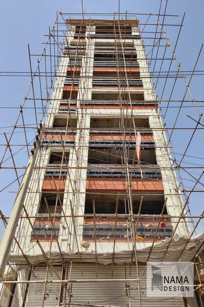 اجرای نمای آجری ساختمان