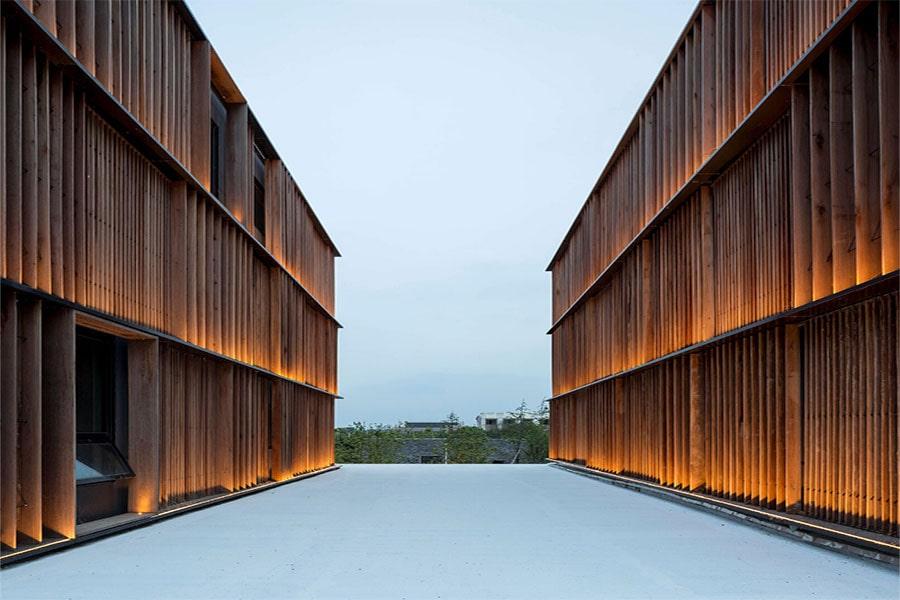 نورپردازی نمای ساختمان ساده